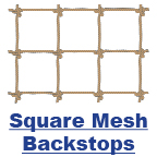 Square Mesh Backstops