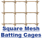 Square Mesh Batting Cages