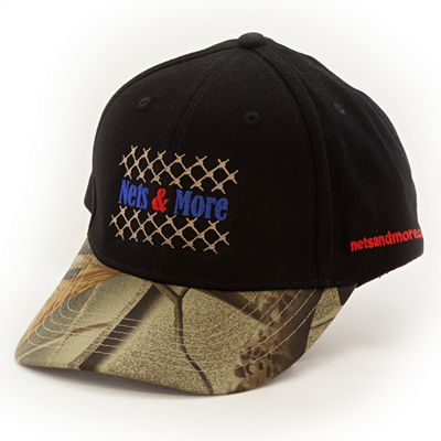Nets & More Hat Camo Black