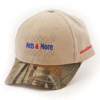 Nets & More Hat Camo Khaki