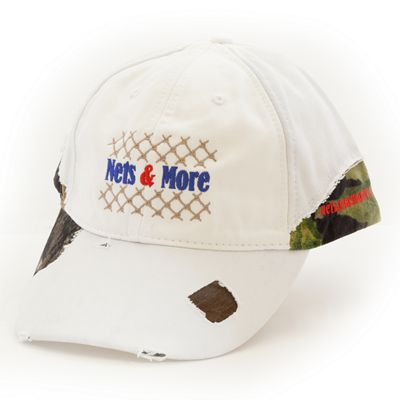 Nets & More Hat Frayed White