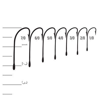 Mustad hooks 31010-DT and 31014-SS sizes