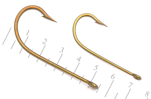 Mustad 3407-BR forged alligator hooks HK-FB HK-FC