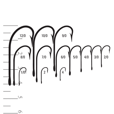 Mustad hooks 34081-DT and 34009-SS sizes.